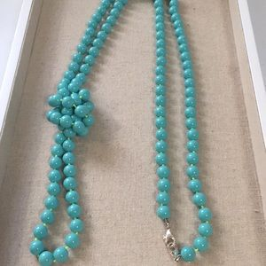 Stella and Dot La Coco rope necklace turquoise